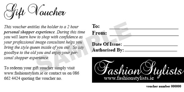 Personal stylist gift vouchers fashion stylists ireland fashion stylists gift vouchers solutioingenieria Image collections